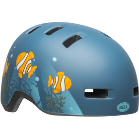 Bell Lil Ripper Helmet Barn matte gray/blue fish